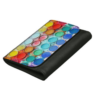 Fun paint color box wallets for women