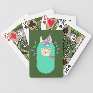 Fun Party Emoji Llama Bicycle Playing Cards