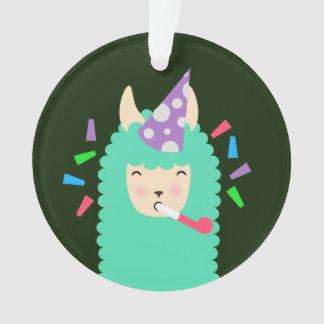 Fun Party Emoji Llama Ornament