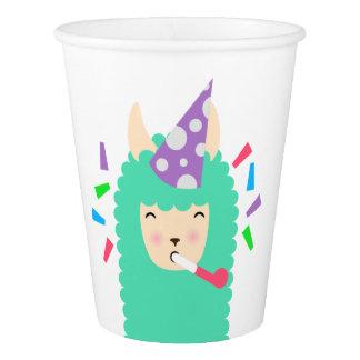 Fun Party Emoji Llama Paper Cup