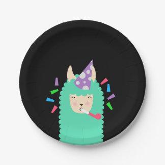 Fun Party Emoji Llama Paper Plate