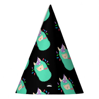 Fun Party Emoji Llama Party Hat