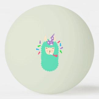 Fun Party Emoji Llama Ping Pong Ball