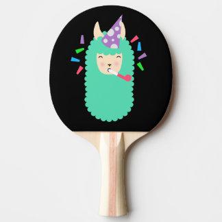 Fun Party Emoji Llama Ping Pong Paddle