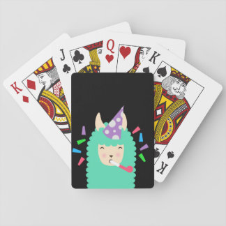 Fun Party Emoji Llama Playing Cards