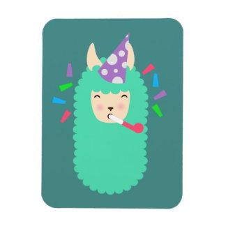 Fun Party Emoji Llama Rectangular Photo Magnet
