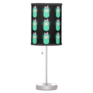 Fun Party Emoji Llama Table Lamp