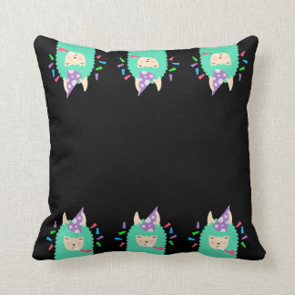 Fun Party Emoji Llama Throw Pillow