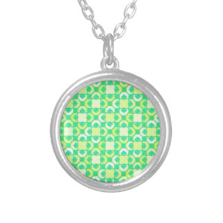 Fun Pattern in Green and Yellow Necklace
