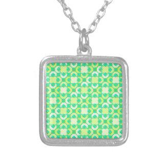 Fun Pattern in Green and Yellow Pendants