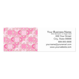 Fun Pattern in Pinks Business Card Template