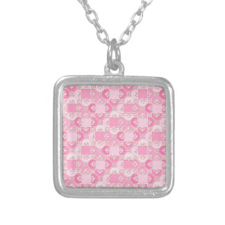 Fun Pattern in Pinks Necklaces