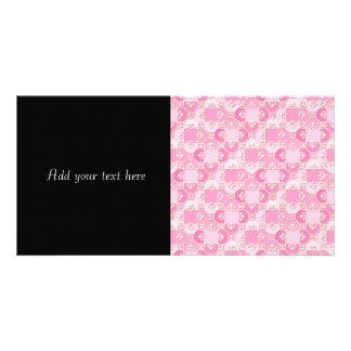 Fun Pattern in Pinks Photo Greeting Card