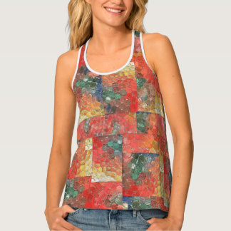 Fun pattern, trendy, great with jeans. tank top