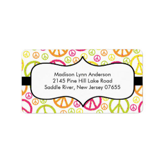 Fun Peace Signs  Return Address Labels. Label