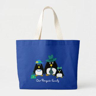 Fun Penguin Family.  Gift  Shopping Bag