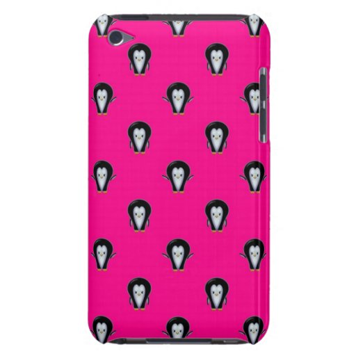 Fun Penguins over Hot Pink Pattern iPod Case-Mate Cases