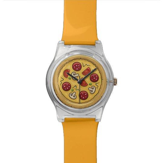 Fun Pepperoni & Mushroom Pizza Watch