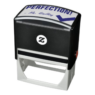 "Fun ""PERFECTION!"" + Educator's Name Rubber Stamp"
