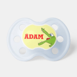 Fun Personalized Alligator Pacifier for Baby Boy