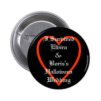 Fun Personalized Halloween Wedding Favors 2 Inch Round Button