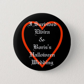 Fun Personalized Halloween Wedding Favours 2 Inch Round Button