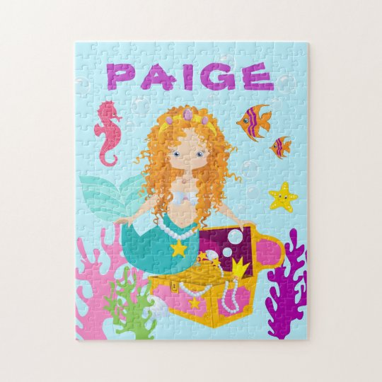 Fun Personalized Mermaid Puzzle