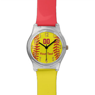 Fun Personalized Softball Watch for Girls