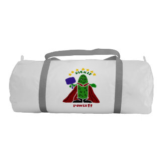 Fun Pickleball Pickle Super Hero Gym Bag