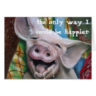 FUN PIG SAYS EAT MORE TURKEY AT ***THANKSGIVING*** CARD