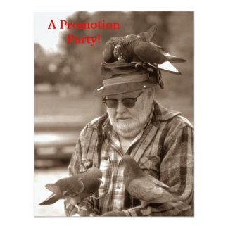 Fun Pigeons Birds on Man Work Promotion Invitation