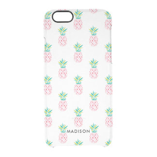 Fun Pineapples Pattern Clear iPhone 6/6S Case