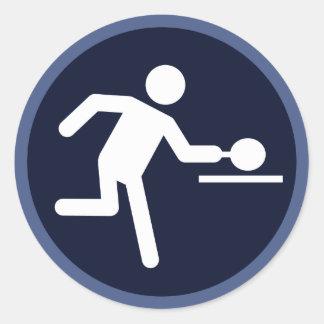 Fun ping pong sports sticker