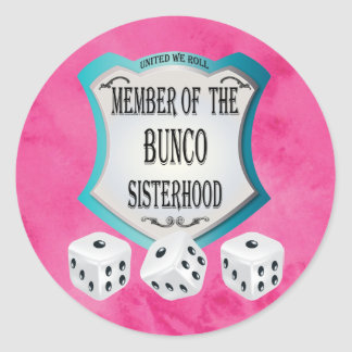 Fun Pink Bunco Fundraiser Classic Round Sticker