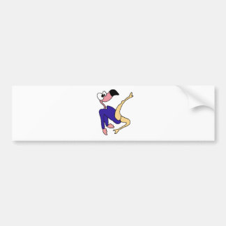 Fun Pink Flamingo Gymnast doing Floor Exercises Bumper Sticker