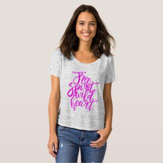 Fun Pink Free Spirit Wild Heart T-Shirt