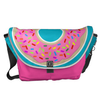 Fun Pink Frosted Donut Messenger Bag