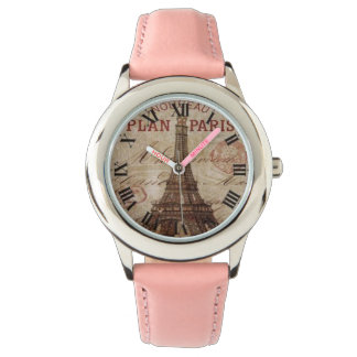 Fun Pink Paris Roman Numeral Watch