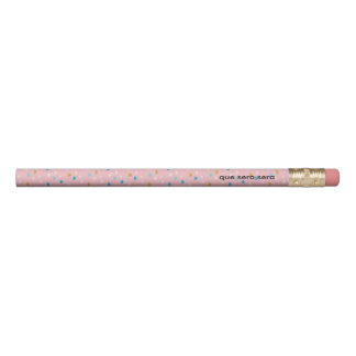 Fun Pink Patterned 2 lines Pencil