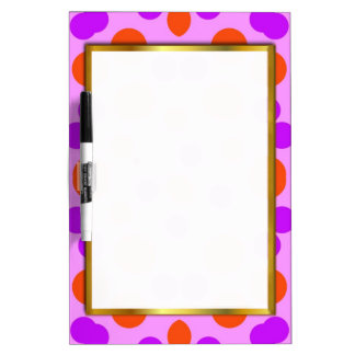 FUN PINK VIOLET BACKGROUND GIRLY DRY ERASE BOARD