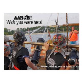 Fun Pirate Adventures Jersey Shore Brick NJ Postcard