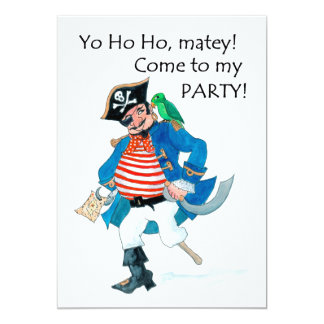 Fun Pirate and Parrot Party Invitation