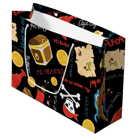 Fun Pirate pattern kids fun gift bag