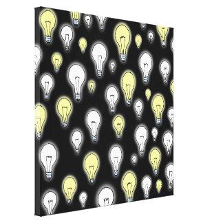 Fun Playful Glowing Light Bulbs Inspiration Canvas Print