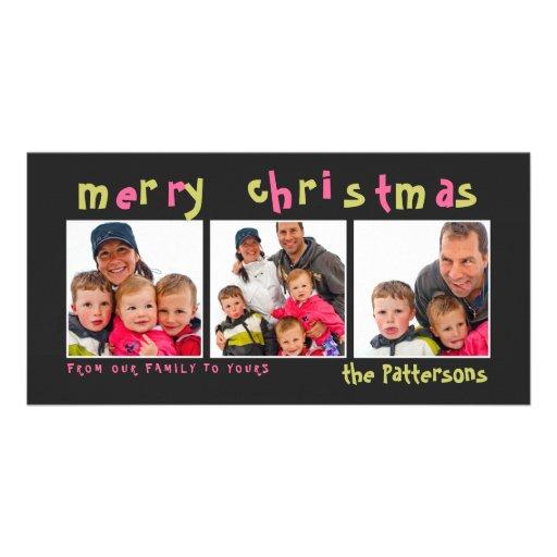 Fun & Playful Merry Christmas Photo Card