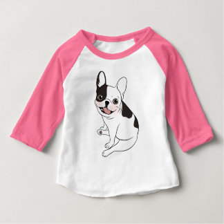 Fun playtime for the Single hooded pied Frenchie Baby T-Shirt