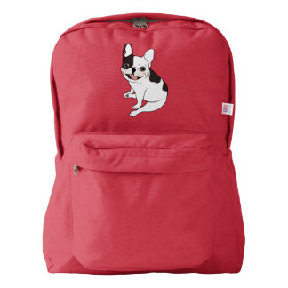 Fun playtime for the Single hooded pied Frenchie Backpack