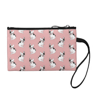 Fun playtime for the Single hooded pied Frenchie Coin Purse