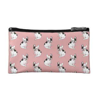 Fun playtime for the Single hooded pied Frenchie Cosmetic Bag