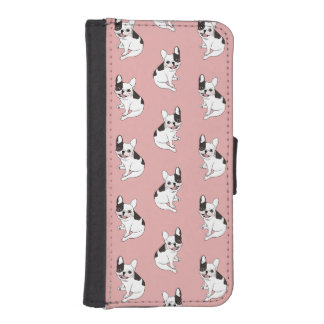 Fun playtime for the Single hooded pied Frenchie iPhone SE/5/5s Wallet Case